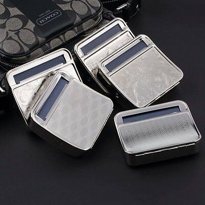 Metal Automatic Cigarette Tobacco Roller Roll Rolling Machine Box Case Tin xW