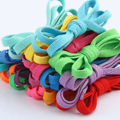 Shoelaces Colorful Coloured Flat Round Bootlace Sneaker Shoe Laces 120cm