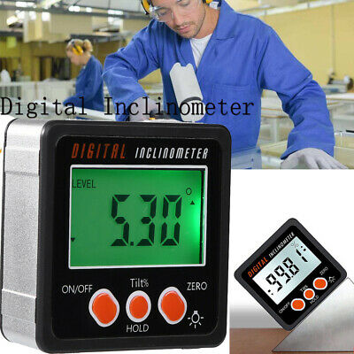 Portable Mini LCD Digital Angle Finder Protractor Inclinometer Bevel Level Box