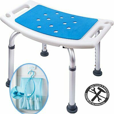 Medokare Shower Stool with Padded Seat - Shower Seat for Seniors with Tote Bag