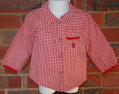 H&M L.O.G.G. Baby - Red White Shirt - Size 9/12m - EUC