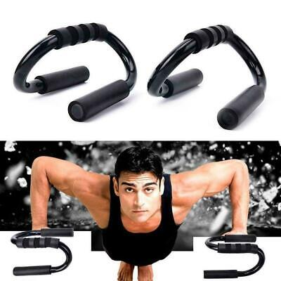 S-type Push Up Frame Black Handle Home Exercise Training Sports Fitness Sup O5Q4