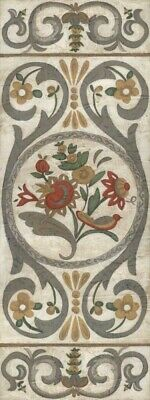 ART-PRINT-IMAGE-Floral-Tudor-Rose-Panel-I-Picture-Poster-Fine-art-on-Paper-or-Ca