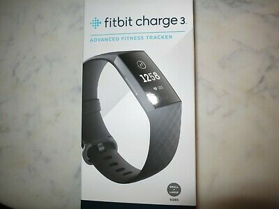 Fitbit Charge 3 Activity Tracker + Heart Rate Graphite Aluminum Brand New Sealed