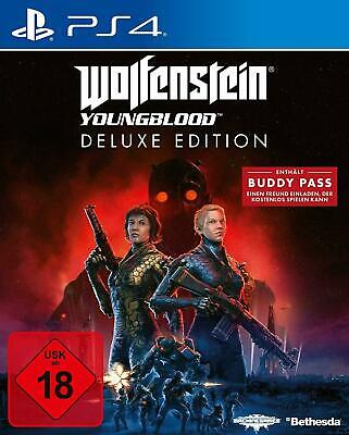 Wolfenstein Youngblood Deluxe Edition PS4 (Neu & OVP) (Releas 26.07.19)