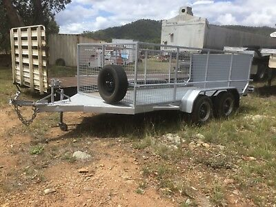 Tandem Trailer Cage Top Drop Down Ramp Totally Refurbished  General Lawn Mowers