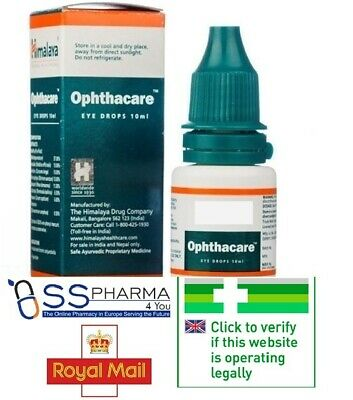 🇬🇧 Herbal Himalaya Opthacare eye drops for dry and red eyes