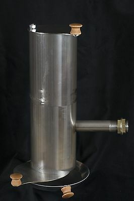 Stainless Steel Smokemiester BBQ Smoker with Extension, Smokes up to 24 hours