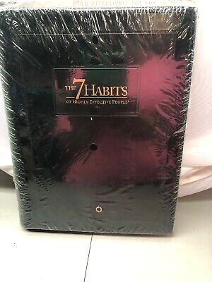 NEW The 7 Habits of Highly Effective People Leather-bound Seminar Ed. 2.0 Set