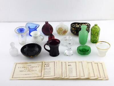 Lot of 18 Franklin Heirloom Glass Curio Cabinet Collectibles w/24 Card Lot GOOD