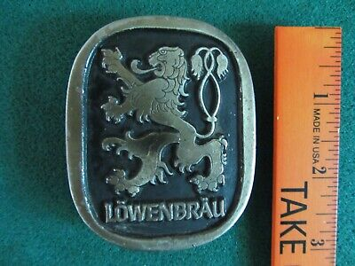 Vintage 1976 Lowenbrau Beer Griffin Logo Limited Edition Belt Buckle Made Usa