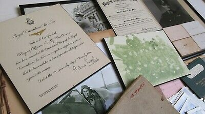 RAF RCAF Spitfire Pilot medals flying log book historically important collection