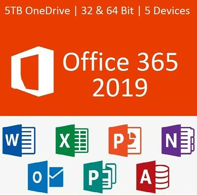 MS Office 365 Home Personal 2016 Pro 2019 5 Users License