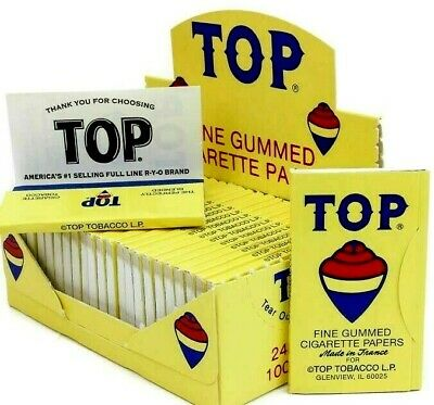 Tops Tobacco Rolling Papers 100 Papers/Pk Buy 4 @ $1.55/Pk Top Rolling Papers