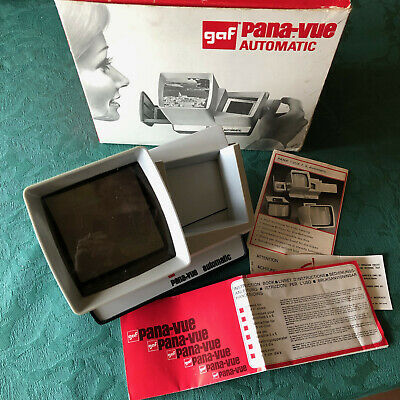 Vintage - GAF Pana-Vue Automatic 35mm Slide Viewer - Original Box and Manual