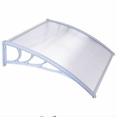 Outdoor Porch Door Canopy Awning Shelter Front Back Shade Shed Patio Roof White