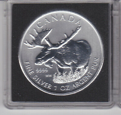 CANADA 2012 Silver Maple Leaf Wildlife Series MOOSE 99.99% Pure 1 oz Silver Coin