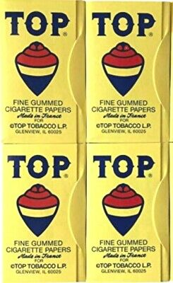 4 Packs Top Rolling Papers Original 100 Papers/Pack - Best Prices - USA Shipper!