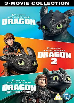 How To Train Your Dragon: The Hidden World + 1 & 2 - DVD - UK Stock New & Sealed