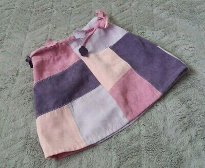 Baby Girls Pink Purple Patchwork Mini Skirt (12-18 Months) - By Mothercare