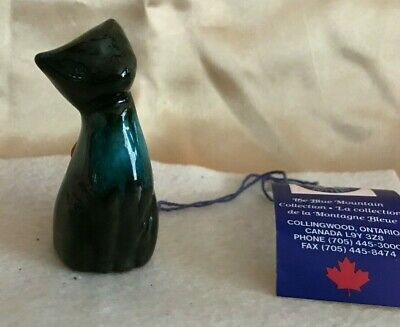 Vintage Blue Mountain Pottery Cat/Kitten-Nwt-Hand Made In Canada