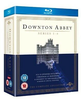 Downton Abbey - Complete Collection (Series 1-4) NEW Cult Blu-Ray 13-Disc Set