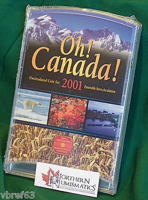 2001P Canada 7 coin Oh! Canada Uncirculated regular set A1 condition