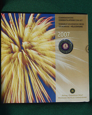 2007 Canada Uncirculated Congratulations set - still sealed - Fireworks 25 cent
