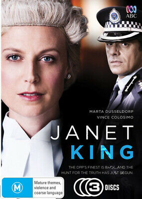 Janet King NEW PAL Series Cult 3-DVD Set Marta Dusseldorp Vince Colosimo