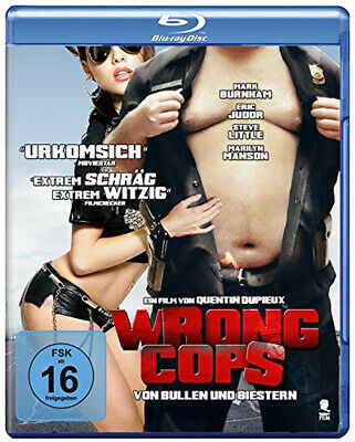 Wrong Cops NEW Cult Blu-Ray Disc Quentin Dupieux Mark Burnham Eric Judor France