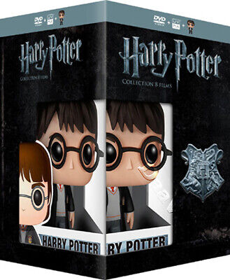 Harry Potter Collection NEW PAL Cult 8-DVD Set & Harry Potter FUNKO Figurine