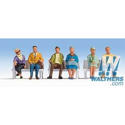 Walthers 949-6058 Seated People Pkg (6) Set #2 HO Scale
