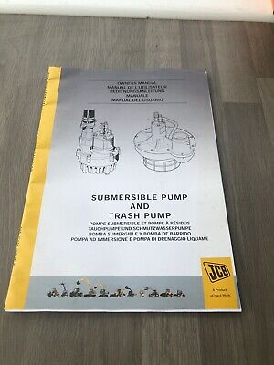 Jcb Submersible Pump & Trash Pump Owners Manual 929/03900 & 929/04500, 929/34300