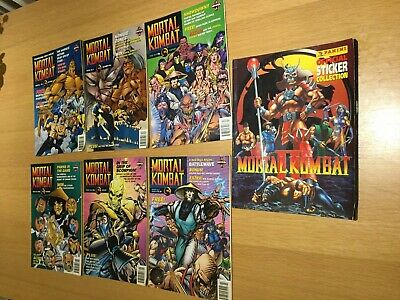 Mortal Kombat 2 Comic Series #1, #3-7 Manga 1995-96 Panini Sticker Album Used UK