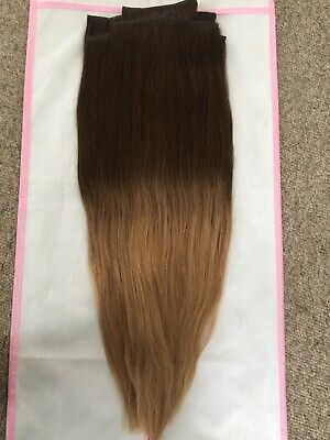 Foxy Locks Deluxe 20 Inch Clip In Hair Extensions Mocha Toffee Ombre