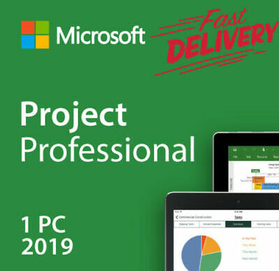 MS Project Professional 2019 FOR 1 PC GENUINE key + link fast delivery 😊👌👍