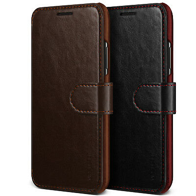 For Apple iPhone X/Xs/Max/XR Case VRS® [Layered Dandy] Slim Leather Wallet Cover