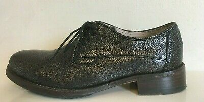 CLARKS NARRATIVE Leather Lace Up Shoes Womens Black With Gold 4 D EU 37
