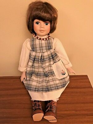 """Beautiful Sitting Porcelain Doll - 10"""" Tall & 8"""" Wide    Sale!"""