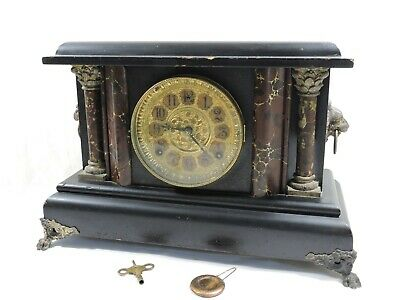 "Antique 1890 American ""Bonanza"" Mantel Clock by Wm L Gilbert Clock Co"