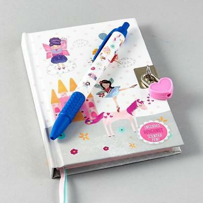 Floss /& Rock Party Animal Lockable Diary with Grape Scented Pen Children Gift