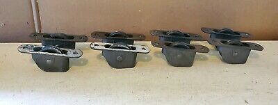 "8  Vintage Antique old Cast iron window sash pulleys 4.5  x 1"" FREE SHIPPING"