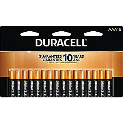 Duracell® Coppertop Alkaline AAA Batteries, Pack Of 16 *New in RETAIL PACKAGE!!