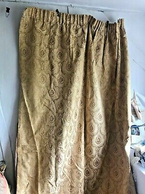 Vintage French Chateau Curtain Classic Golden Brocade French Interiors / One pc