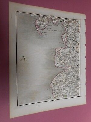 100% Original Lancashire  Morecambe Bay Map By John Cary C1794 Vgc Low Start