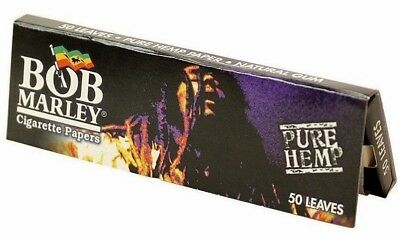 Bob Marley Pure Hemp Rolling Papers 1 1/4 50 Leaves Pack USA SHIPPED