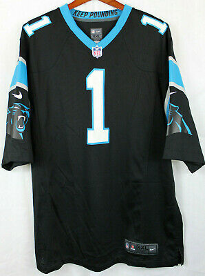 0a38d730 CAROLINA PANTHERS CAM NEWTON #1 Reebok On Field SEWN Jersey NFL Size ...