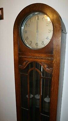 Antique Grandmother Westminster chiming clock. 6ft approx.