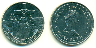 1984 Canada Jacques Cartier Commemorative $1 Coin