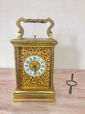 Antique French Gilt Bronze Repeater Carriage Clock C.1890